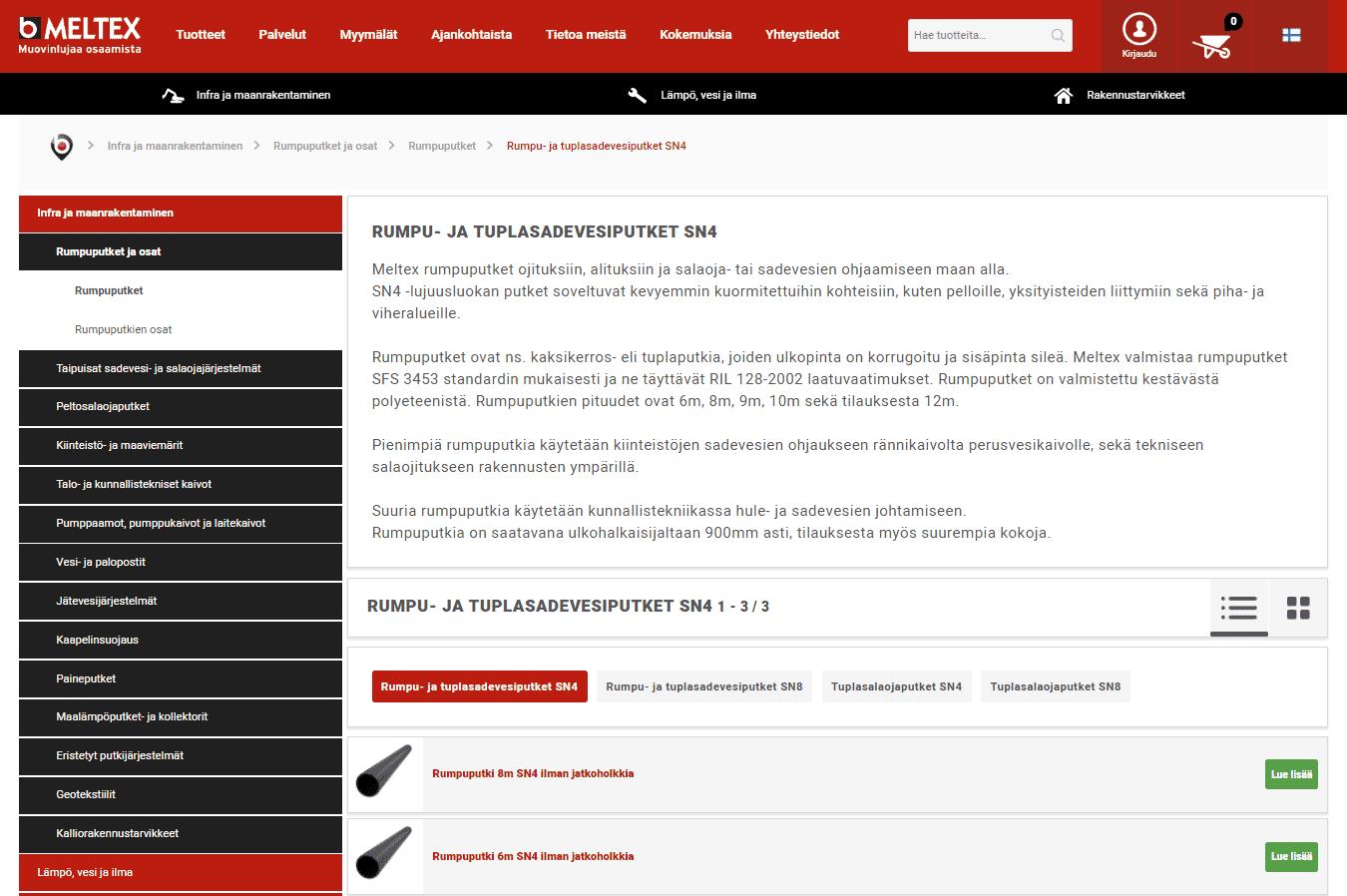 Meltex tuotetiedot verkkokauppa